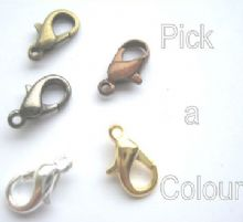 12mm lobster / claw claps x7. Pick a colour.